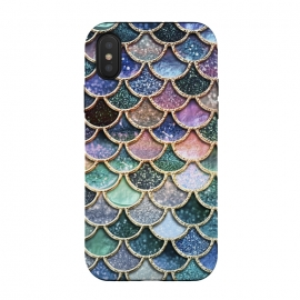 iPhone Xs / X  Multicolor Metal Mermaid Scales by