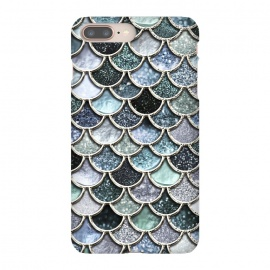 iPhone 8/7 plus  Multicolor Silver Metal Foil Mermaid Scales by Utart