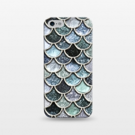 iPhone 5/5E/5s  Multicolor Silver Metal Foil Mermaid Scales by Utart