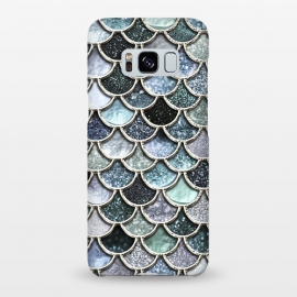 Galaxy S8+  Multicolor Silver Metal Foil Mermaid Scales by Utart