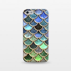 iPhone 5/5E/5s  Multicolor Green & Blue Mermaid Scales by Utart