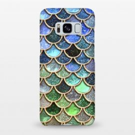 Galaxy S8+  Multicolor Green & Blue Mermaid Scales by Utart