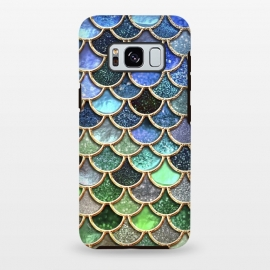 Galaxy S8 plus  Multicolor Green & Blue Mermaid Scales by