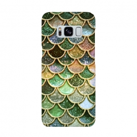 Multicolor Green Metal Glitter Mermaid Scales by Utart
