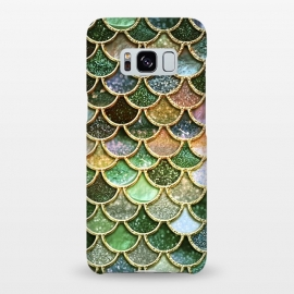 Galaxy S8+  Multicolor Green Metal Glitter Mermaid Scales by Utart