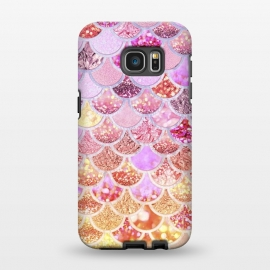 Galaxy S7 EDGE  Multicolor Pink & Gold Mermaid Scales by Utart