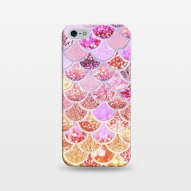 iPhone 5/5E/5s  Multicolor Pink & Gold Mermaid Scales by Utart