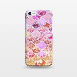 iPhone 5C  Multicolor Pink & Gold Mermaid Scales by Utart