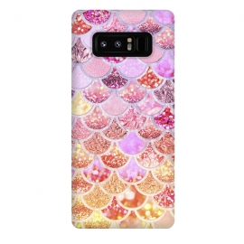 Galaxy Note 8  Multicolor Pink & Gold Mermaid Scales by Utart