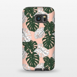 Galaxy S7  Hand drawing monstera pastel color by Mmartabc