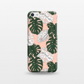iPhone 5C  Hand drawing monstera pastel color by Mmartabc