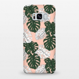 Galaxy S8+  Hand drawing monstera pastel color by Mmartabc