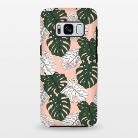 Galaxy S8 plus  Hand drawing monstera pastel color by