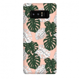 Galaxy Note 8  Hand drawing monstera pastel color by Mmartabc