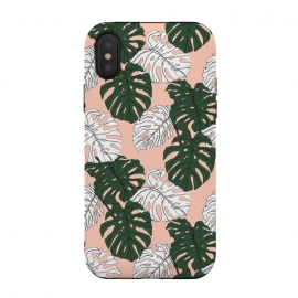 iPhone Xs / X  Hand drawing monstera pastel color by