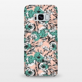 Galaxy S8+  Blue and pink floral by Mmartabc