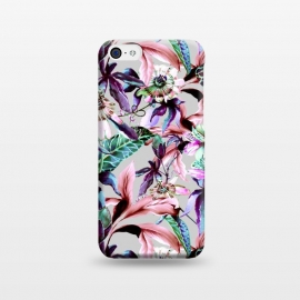 iPhone 5C  Violet botanical paradise by Mmartabc