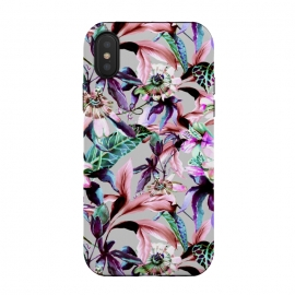 iPhone X  Violet botanical paradise by Mmartabc
