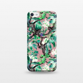 iPhone 5C  Monkeys in the flowery jungle I by Mmartabc