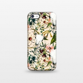 iPhone 5C  Bohemian dreamcatcher and skull floral  by Mmartabc