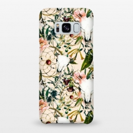 Galaxy S8+  Bohemian dreamcatcher and skull floral  by Mmartabc