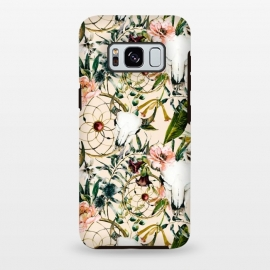 Galaxy S8 plus  Bohemian dreamcatcher and skull floral  by
