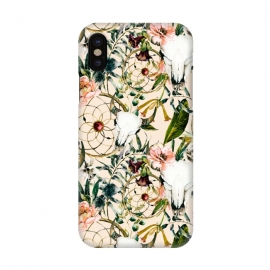 iPhone X  Bohemian dreamcatcher and skull floral  by Mmartabc