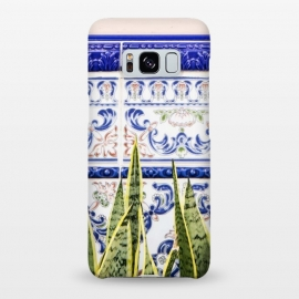 Galaxy S8+  Moroccan Botany by Uma Prabhakar Gokhale (morocco, moroccan, plants, botanical, nature, pastel, leaves, tiles, blush)