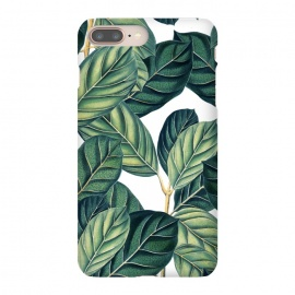 iPhone 8/7 plus  Botany by  (graphic, pattern, nature, botanical, botany, greenery, exotic, tropical, leaves)