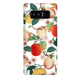 Galaxy Note 8  Fruity Summer by  (expressionism, fresh, nature, fruits, tropical, peach, sweet, food, pattern, botanical)