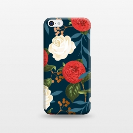 iPhone 5C  Floral Obsession V2 by Uma Prabhakar Gokhale (expressionism, pattern, 3 d, floral, nature, bloom, exotic, dark, flowers)