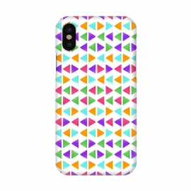 iPhone X  Colorful Triangles by Dhruv Narelia
