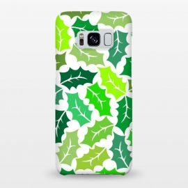Galaxy S8+  Green Leaves Pattern by Dhruv Narelia
