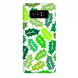 Galaxy Note 8  Green Leaves Pattern by Dhruv Narelia