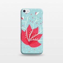 iPhone 5C  Exotic Pink Winter Flower by Boriana Giormova
