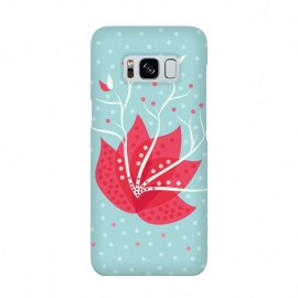 Galaxy S8  Exotic Pink Winter Flower by Boriana Giormova
