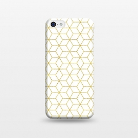 iPhone 5C  Gold - Geometric by Uma Prabhakar Gokhale (graphic, pattern, gold, golden, geometric, shine, sparkle, metallic, exotic, shiny, rectangular)