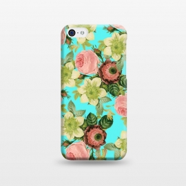 iPhone 5C  Hawaiian Flora by Uma Prabhakar Gokhale (pattern, realism, watercolor, vintage, tropical, nature floral, botanical, roses, exotic)