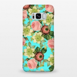 Galaxy S8+  Hawaiian Flora by Uma Prabhakar Gokhale (pattern, realism, watercolor, vintage, tropical, nature floral, botanical, roses, exotic)