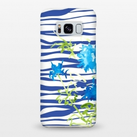 Galaxy S8+  WATERCOLOR STRIPES AND FLORALS by ALIPRINTS Design Studio