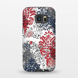 Galaxy S7  Lagoon Versailles Red& Blue by ALIPRINTS Design Studio
