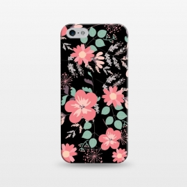 iPhone 5/5E/5s  Coral and black by Rossy Villarreal