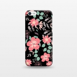 iPhone 5C  Coral and black by Rossy Villarreal