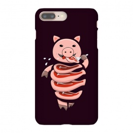 Dark Hungry Self Eating Cut In Steaks Pig by Boriana Giormova (gluttony, gluttonous, pig, pigs, eat, eating, meat, carnivore, vector, animal, animals, stupid, stupid pig, character, funny, humor, steak, steaks, food, cannibal, cannibalism, slice, slices, weird, odd, strange, dark, cool, pig art, pig illustration, vector pig, cool pig, strange pig, piggy, piggie)