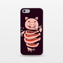 iPhone 5/5E/5s  Dark Hungry Self Eating Cut In Steaks Pig by Boriana Giormova