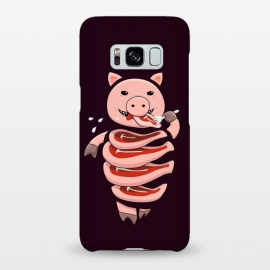 Galaxy S8+  Dark Hungry Self Eating Cut In Steaks Pig by Boriana Giormova