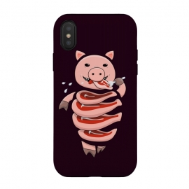 iPhone Xs / X  Dark Hungry Self Eating Cut In Steaks Pig by