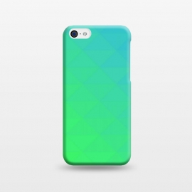 iPhone 5C  blue green triangle pattern by MALLIKA
