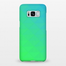 Galaxy S8+  blue green triangle pattern by MALLIKA