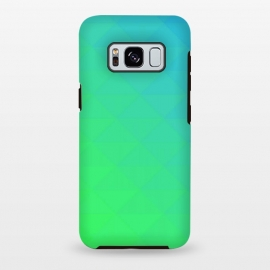 Galaxy S8 plus  blue green triangle pattern by
